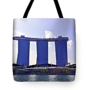 View Of The Towers Of The Marina Bay Sands In Singapore Tote Bag