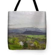 View Of Wallace Monument And Surrounding Areas Tote Bag