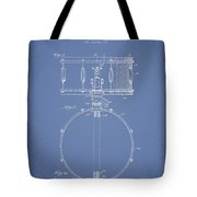 Snare Drum Patent Drawing From 1939 - Light Blue Tote Bag