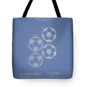 Vintage Soccer Ball Patent Drawing From 1964 Tote Bag