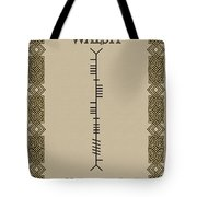 Walsh Written In Ogham Tote Bag