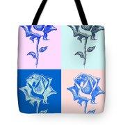 4 Warhol Roses By Punt Tote Bag