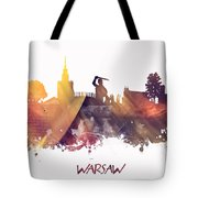 Warsaw City Skyline Tote Bag