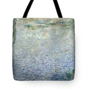 Waterlilies Morning With Weeping Willows Tote Bag