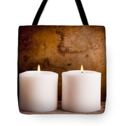 White Candles Tote Bag