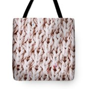 White Wool Tote Bag