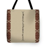 White Written In Ogham. Tote Bag