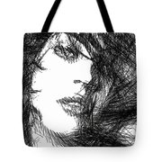 Woman Sketch Tote Bag