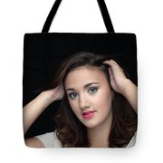 Woman Smiling Tote Bag