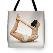 Yoga Bow Pose Tote Bag