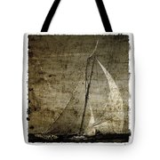 40 Sailboat - With Open Wings In A Grunge Background  Tote Bag