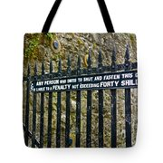 40 Shillings Tote Bag