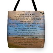 40- Wild Geese Mary Oliver Tote Bag