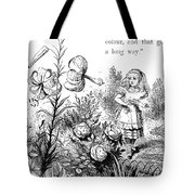 Carroll Looking Glass Tote Bag