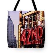 42nd Street New York City Tote Bag