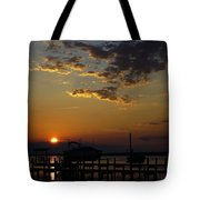 An Outer Banks Of North Carolina Sunset Tote Bag