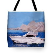 Storm Chasing On The High Seas Tote Bag