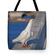 21- White Dove Tote Bag