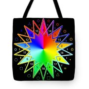 432hz Rainbow Star Tote Bag
