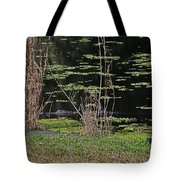 44- Alligator - Great Blue Heron Tote Bag