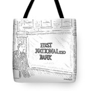First Nationalized Bank Tote Bag