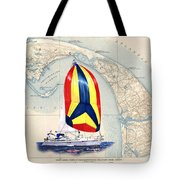 39 Foot Beneteau Cape Cod Chart Art Tote Bag