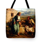 Greek Shepherd And Maiden By A Well Tote Bag