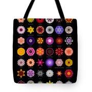 48 Flower Mandalas Tote Bag by David J Bookbinder