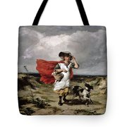 Crossing The Heath Windy Day Tote Bag