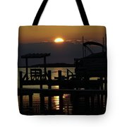 An Outer Banks Of North Carolina Sunset Tote Bag