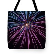 4th Of July 2014 Fireworks Bridgeport Hill Clarksburg Wv 1 Tote Bag