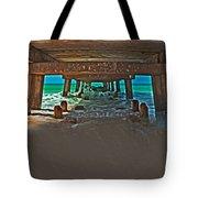 4x1 Under Fishing Pier Tote Bag