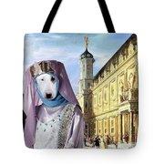 Bull Terrier Art Canvas Print Tote Bag