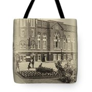 16th Street Baptist Church In Black And White With A White Vingette Tote Bag