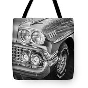 1958 Chevrolet Bel Air Impala Painted Bw  Tote Bag