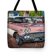 1958 Chevrolet Bel Air Impala Painted  Tote Bag