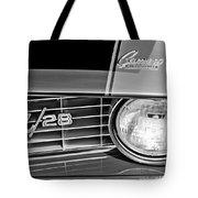 1969 Chevrolet Camaro Z 28 Grille Emblem Tote Bag