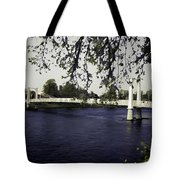 A Wonderful Suspension Bridge Over The River Ness In Inverness Tote Bag