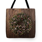 Advent Christmas Wreath Decoration Tote Bag