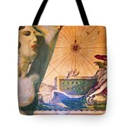 Ancient Cyprus Map And Aphrodite Tote Bag