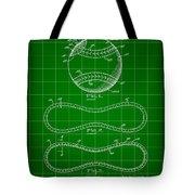 Baseball Patent 1927 - Green Tote Bag