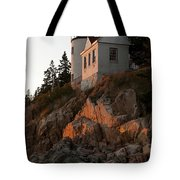 Bass Harbor Head Lighthouse Tote Bag