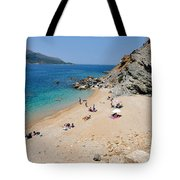 Beach In Legrena Tote Bag