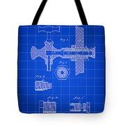 Beer Tap Patent 1876 - Blue Tote Bag