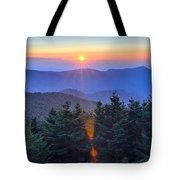 Blue Ridge Parkway Autumn Sunset Over Appalachian Mountains  Tote Bag