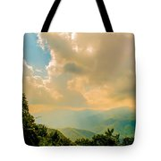 Blue Ridge Parkway Scenic Mountains Overlook Tote Bag