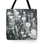 Bubbles In Ice On Abraham Lake Tote Bag