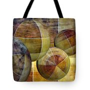 5 By 5 Gold Worlds Tote Bag