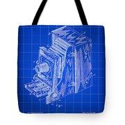 Camera Patent 1887 - Blue Tote Bag