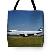 Cathay Pacific Boeing 747 Tote Bag